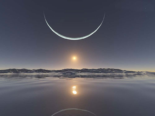 North Pole Moon