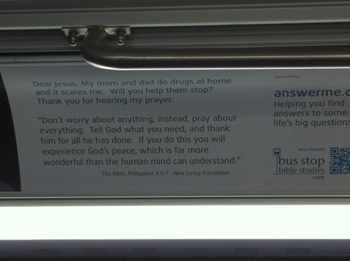 Religious Advert on the TTC