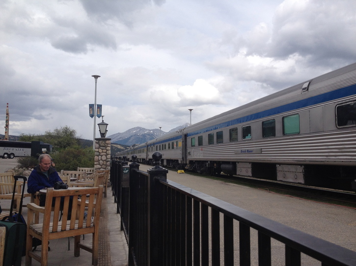 VIA Train in Jasper