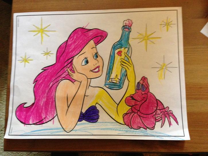 Ariel on the Bottle
