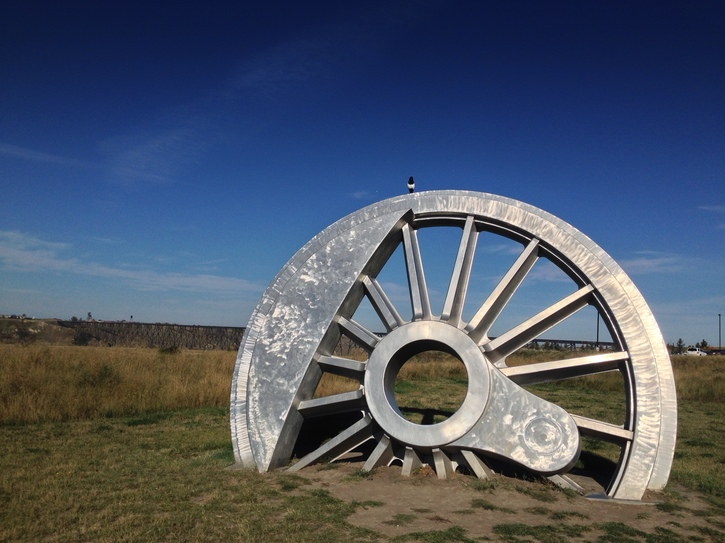 Rail Wheel Sculpture