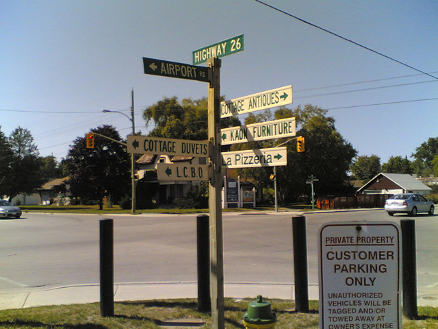 Signpost in Stayner