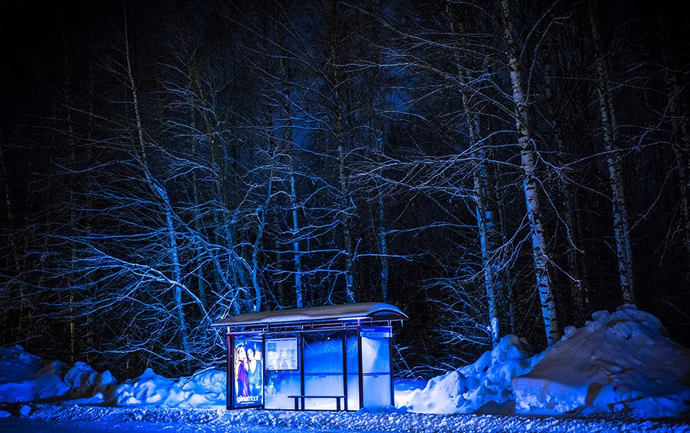 Bus Shelter in Snow