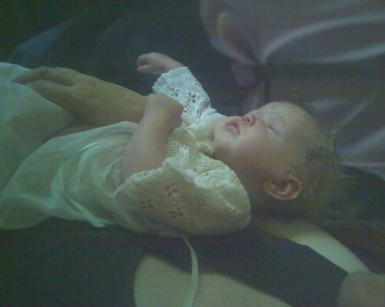 Nora in her Baptism Dress