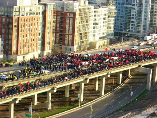 Tamil Protest on the Gardiner